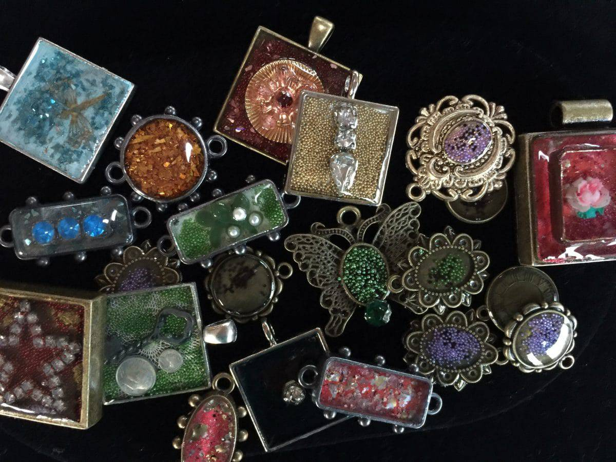 This medley of ice resin art is from Mary Ellen Beads Albuquerque.