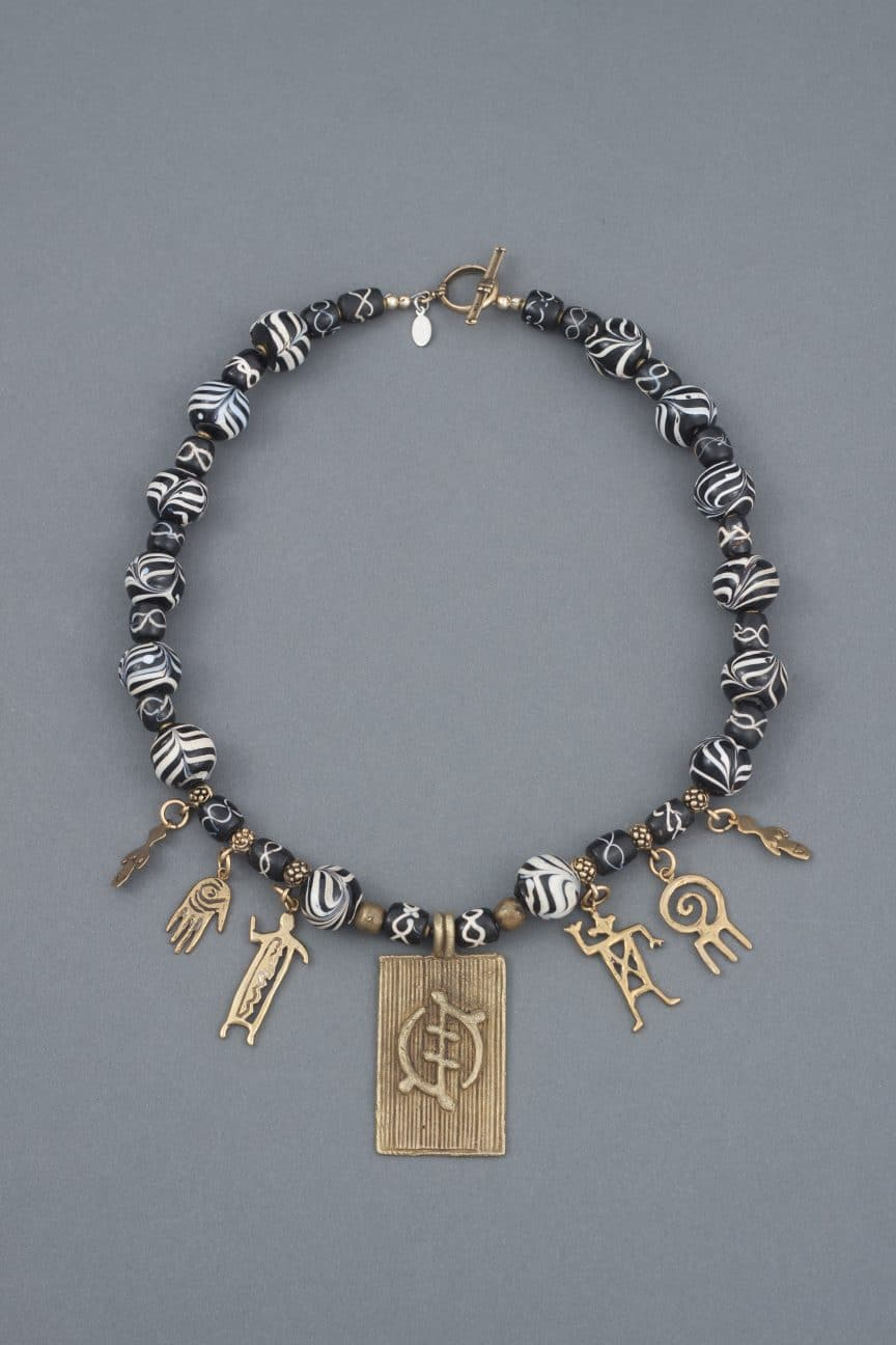 This necklace is by Mary Ellen Beads Albuquerque who helps you increase marketing success using discipline as an acronym.