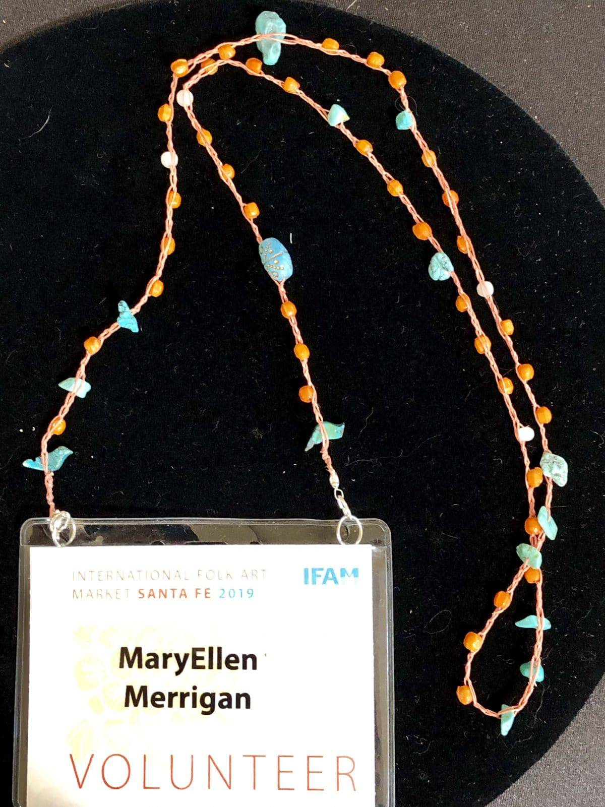 This custom lanyard by Mary Ellen Beads Albuquerque is an example of random acts of beading.
