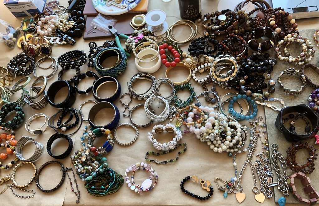 This bracelet plethora is for the jewelry po