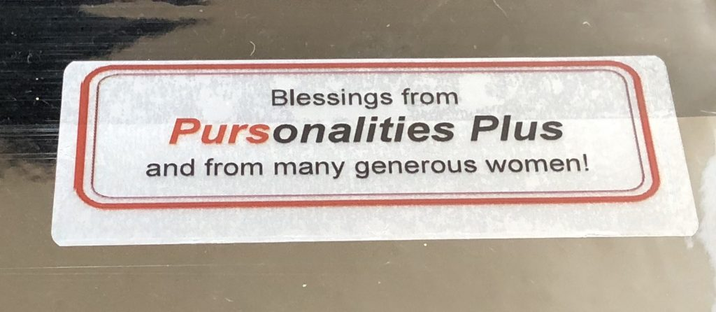 Charitable project for Pursonalities Plus ABQ includes Jewelry packets with this label, coordinated by Mary Ellen Beads Albuquerque.